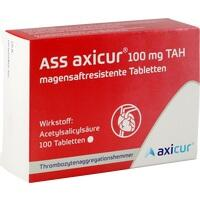 ASS axicur 100 mg TAH magensaftresist. Tabletten, 100 ST, Axicorp Pharma GmbH
