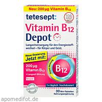 tetesept Vitamin B12 Depot 200ug, 30 ST, Merz Consumer Care GmbH