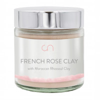 FRENCH ROSE CLAY WITH MOROCCAN RHASSOUL CLAY CNI, 80 G, cn innovations e.U.