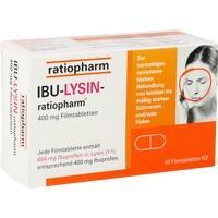 IBU-LYSIN-ratiopharm 400 mg Filmtabletten, 50 ST, ratiopharm GmbH