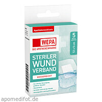 WEPA Wundverband wasserdicht 7.2 x 5cm steril, 5 ST, Wepa Apothekenbedarf GmbH & Co. KG