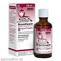 Bromhexin Hermes Arzneimittel 8mg/ml Tropfen, 100 ML, Hermes Arzneimittel GmbH