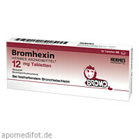 Bromhexin Hermes Arzneimittel 12mg Tabletten, 50 ST, Hermes Arzneimittel GmbH
