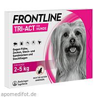 FRONTLINE Tri-Act Lsg.z.Auftropfen f.Hunde 2-5 kg, 6 ST, Boehringer Ingelheim Vetmedica GmbH