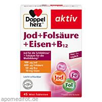 Doppelherz Jod+Folsäure+Eisen+B12, 45 ST, Queisser Pharma GmbH & Co. KG
