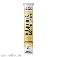 Vitamin C 1000 mg + Zink Brausetabletten, 20 ST, Zein Pharma - Germany GmbH