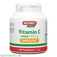 Vitamin C retard 1.000 mg Immun MEGAMAX, 100 ST, Megamax B.V.