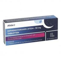 Diphenhydramin Atida+ 50 mg Tabletten, 20 ST, Gib Pharma GmbH