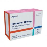 Atida+ Ibuprofen 400 mg Filmtabletten, 50 ST, IVC Pragen GmbH