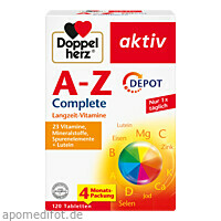 Doppelherz A-Z Complete Depot, 120 ST, Queisser Pharma GmbH & Co. KG