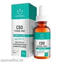 CBD5% Bio Hanfextrakt Öl - Vitadol Mint, 10 ML, Endower GmbH