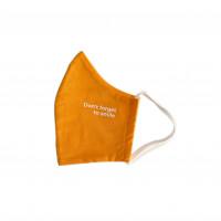 Bio Mund Nasen Maske Don't forget to smile orange, 1 ST, PHYNE GmbH