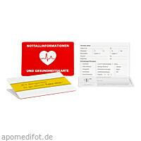 Notfallinfo-Kartenhülle für die Gesundheitskarte, 1 ST, MZ-Datenservice e. K.