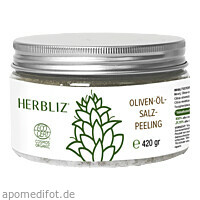 HERBLIZ Olivenöl-Meersalz-Peeling - 420g, 420 G, Mediakos GmbH