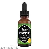 Vitamin K2 MK7 hochdosiert Tropfen vegan, 50 ML, Vitamaze GmbH