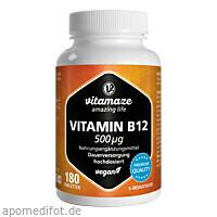 Vitamin B12 500 ug hochdosiert vegan, 180 ST, Vitamaze GmbH