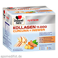 Doppelherz Kollagen 11.000 Curcuma+Ingwer system, 30X25 ML, Queisser Pharma GmbH & Co. KG