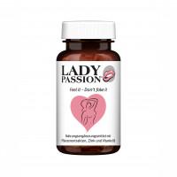 Lady Passion Libido mit Ashwagandha Maca Ginseng, 60 ST, HCLM Health GmbH