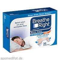 Besser Atmen Breathe Right Nasenpflaster beige gro, 30 ST, Pharma Netzwerk Pnw GmbH
