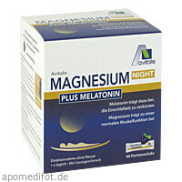 Magnesium Night plus 1mg Melatonin Direktsticks, 60 ST, Avitale GmbH