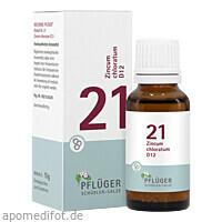 Biochemie Pflüger Glo Nr.21 Zincum chloratum D12, 15 G, Homöopathisches Laboratorium Alexander Pflüger GmbH & Co. KG