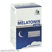 Melatonin 2mg plus Hopfen und Melisse, 120 ST, Avitale GmbH