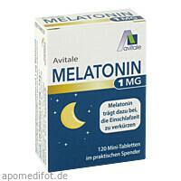Melatonin 1mg Mini-Tabletten im Spender, 120 ST, Avitale GmbH