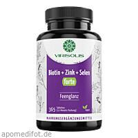 VIRISOLIS Biotin-Zink-Selen FORTE 12 Mon. - vegan, 365 ST, Better Foods GmbH