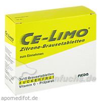 Ce-Limo Zitrone Brausetabletten, 30 St, MEDA Pharma GmbH & Co.KG