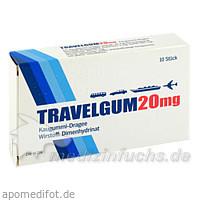 Travelgum® Kaugummi, 10 St, MEDA Pharma GmbH & Co.KG