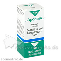 APOZEMA® Gedächtnis- und Konzentrations-Tropfen Nr. 17, 50 ml, Apomedica Pharmazeutische Produkte GmbH