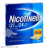 NICOTINELL® Transdermales Pflaster TTSH30, 7 ST, GSK-Gebro Consumer Healthcare GmbH