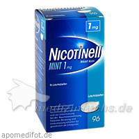 Nicotinell Lutschtabletten Mint 1mg, 96 Stk., Novartis Consumer Health - Gebro GmbH