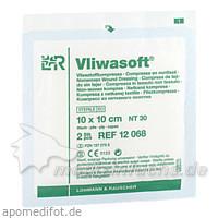 Vliwasoft Vliesstoffkompressen 10 x 10 cm, 2 Stk., Lohmann & Rauscher GmbH & Co. KG