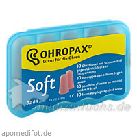 Ohropax soft Gehörschutz Ohrstöpsel, 10 Stk., CHEMOMEDICA MED.TECHNIK U.