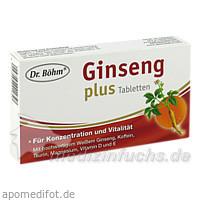 Dr. Böhm® Ginseng plus Tabletten, 30 St, Apomedica Pharmazeutische Produkte GmbH