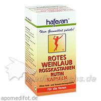 Hafesan Rotes Weinlaub + Rosskastanie + Rutin Kapseln, 60 Stk., REFORM U DIAETPRODUKTE