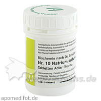 Adler Schüssler Salze Nr. 10 Natrium sulfuricum D6, 100 g, Adler Pharma Produktion und Vertrieb GmbH