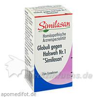 Similasan Globuli gegen Halsweh Nr. 1, 15 g, Jacoby GM Pharma GmbH