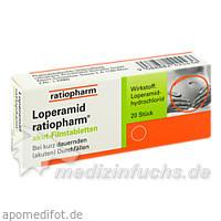 Loperamid ratiopharm® akut-Filmtabletten, 20 St, ratiopharm Arzneimittel Vertriebs-GmbH
