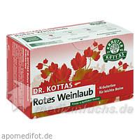 Dr. Kottas Rotes Weinlaub Tee, 20 Beutel, MR.PH.KOTTAS-HELDENBERG&SOHN