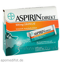 ASPIRIN® Direkt 500 mg Granulat, 20 St, Bayer Austria GmbH