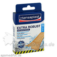 Hansaplast Extra Robust Waterproof Strips, 16 Stk., BEIERSDORF G M B H