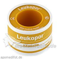 Leukopor 2,5 cm x 5 m, 1 Stk., FIGUREFORM WIL