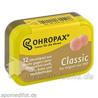 Ohropax Gehörschutz Ohrstöpsel, 12 Stk., CHEMOMEDICA MED.TECHNIK U.