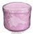 Gebissdose rosa mit Einsatz und Deckel, 1 Stk.