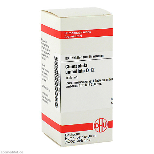 CHIMAPHILA UMBEL D12, 80 ST, Dhu-Arzneimittel GmbH & Co. KG