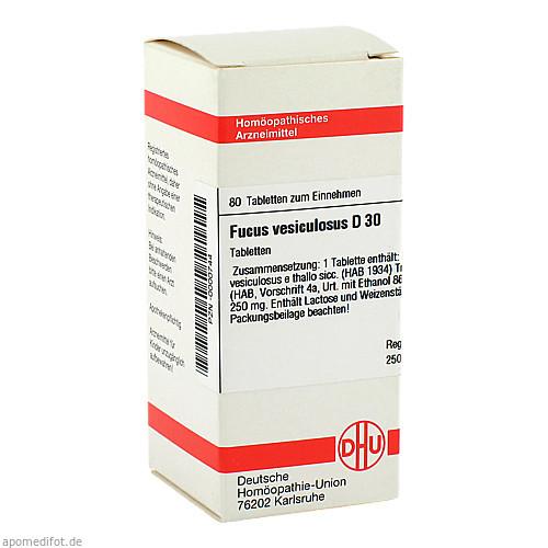 FUCUS VESICULOSUS D30, 80 ST, Dhu-Arzneimittel GmbH & Co. KG