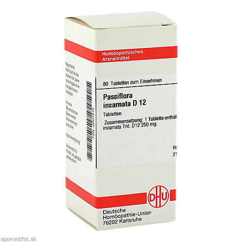 PASSIFLORA INCARNATA D12, 80 ST, Dhu-Arzneimittel GmbH & Co. KG