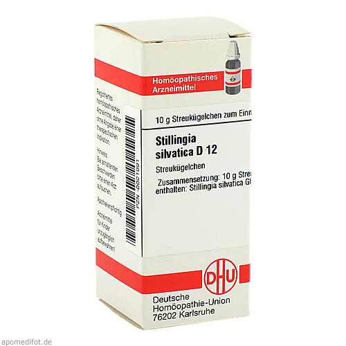 STILLINGIA SILVATICA D12, 10 G, Dhu-Arzneimittel GmbH & Co. KG